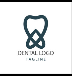 Dental clinic logo design vector
