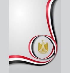 egyptian flag wavy background vector image