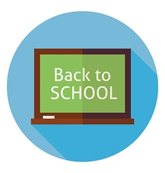 Flat Education Back to School Chalkboard Circle vector image vector image