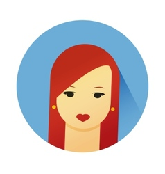 girl with cute hair style vector image vector image