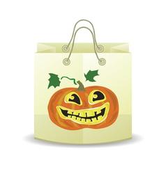 halloween paper bag vector image