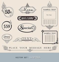 Line thai vector