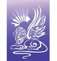 Mythological sphinx vector