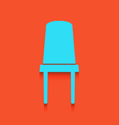 Office chair sign whitish icon on brick vector