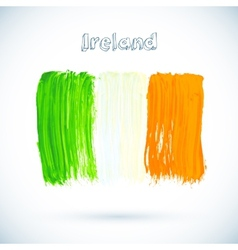 Painted Irish flag vector image vector image