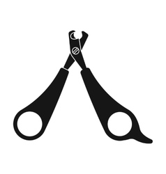 Pet nail clippers icon in black style isolated on vector