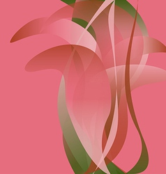 Pink flower isolated abstract background vector image