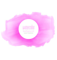 Pink watercolor abstract stain texture background vector