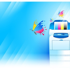 printer background abstract blue texture vector image vector image