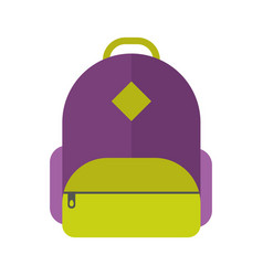 School bag isolated vector