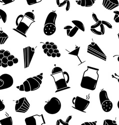 Seamless pattern with food vector