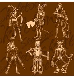 Skeletons - knight vinyl-ready vector