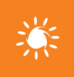 sun in white color vector image
