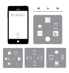 touchscreen smart phone mobile application button vector image