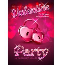 Valentine disco poster Valentine background vector image vector image