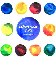 watercolor balls vector image vector image