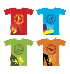 T-shirts for extreme sports vector