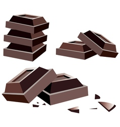 chocolate bars vector image
