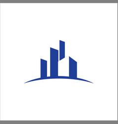 Building business finance logo vector
