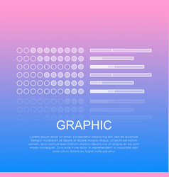Graphic diagrams with text on light background vector