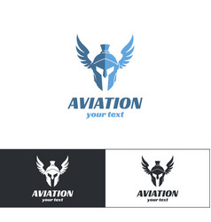 Aviation logo design two vector
