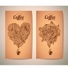 Set of coffee concept design vector