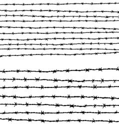 Barbed wire horizontally vector