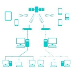 Network flow diagram vector