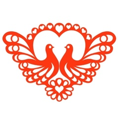 Pattern with doves vector image