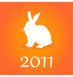 White hare vector