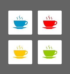 Cup icons vector image
