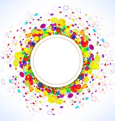Rainbow button background summer vector