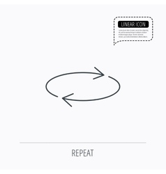Repeat icon full rotation sign vector