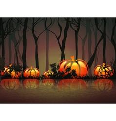 Pumpkin Halloween Moon Night vector image