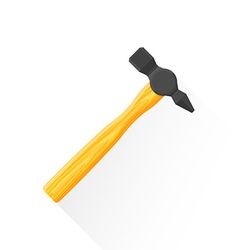 Flat construction hammer icon vector