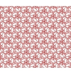 Floral Fine Seamless Red Pattern vector image