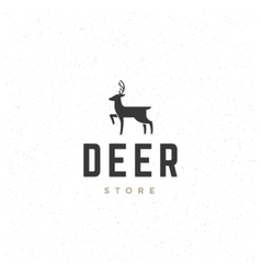 Deer Design Element in Vintage Style for Logotype vector image