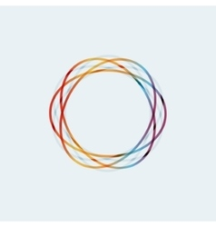 Abstract colored circular line vector