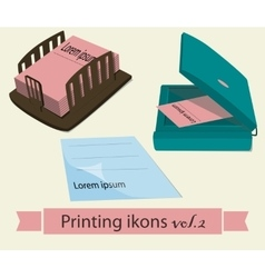 Print icons set2 vector