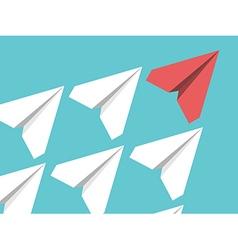 Paper planes leadership concept vector