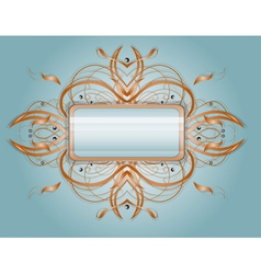 Abstract shape with rectangle vector image vector image