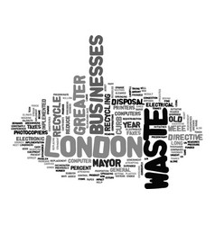 Asset disposal in greater london text word cloud vector