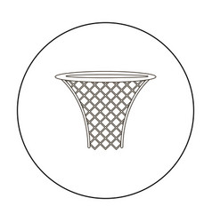 Basketball hoop icon outline single sport icon vector
