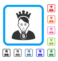 Bitcoin lord framed pitiful icon vector