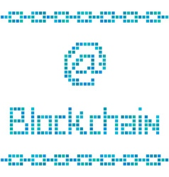Blockchain colorful squares vector