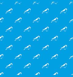 bullfinch pattern seamless blue vector image