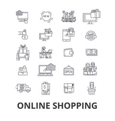 buy online shopping internet store ecommerce vector image