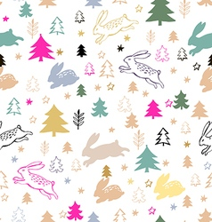 Christmas pattern85 vector image vector image