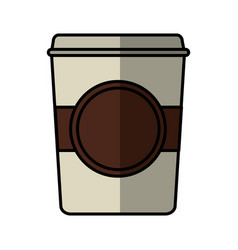 Coffee glass drink isolated icon vector