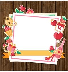 Decorative romance background vector image vector image